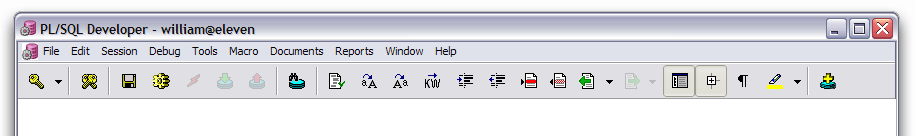 Configuring the toolbar